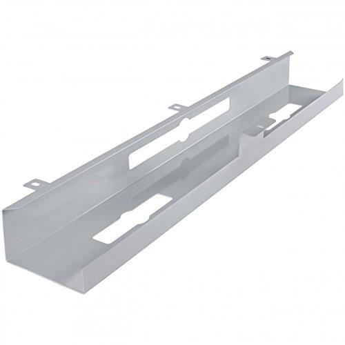 FineBuy Kabelkanal Schreibtisch 80x7x13 cm breit Untertisch Kabelführung Metall | Kabelmanagement Kabelwanne Pulverbeschichtet | Kabelschacht waagrecht 1