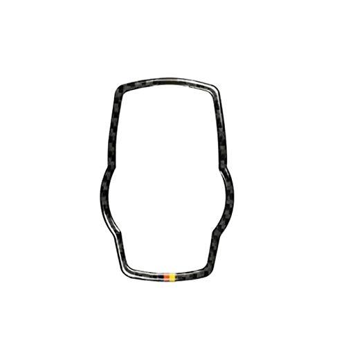 BXSAUISA Ajuste para BMW 3 4 Series F30 F32 2013 2014 2015 2015 2016 2017 2017 2018 Cubierta de Control del Interruptor de Control de Control de Medios de Control del automóvil de Fibra de Carbono
