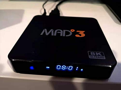 MAD3 Android TVBOX 4K HD Streaming 8K 2GB DDR4 RAM 16GB ROM 3D WiFi Bluetooth 5.0 Quad Core Streaming Devices