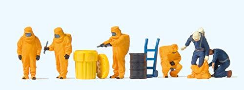 Preiser 10732 Feuerwehrmänner Oranger Vollschutzanzug