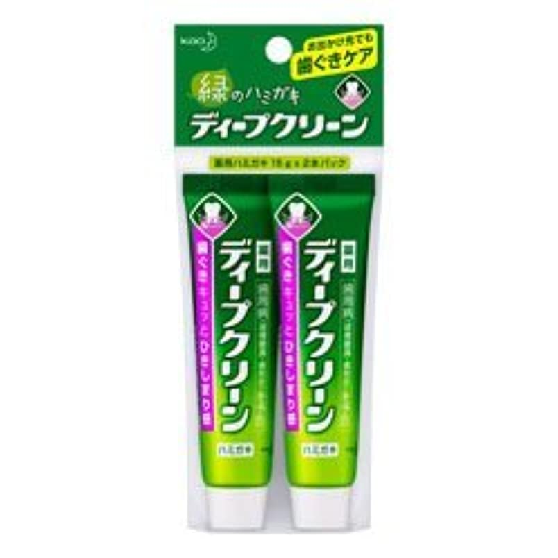 そばに合併症カブ【花王】ディープクリーン 薬用ハミガキ ミニ 15g×2本 ×10個セット
