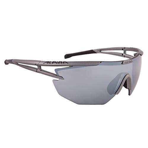 ALPINA Eye-5 Shield cm Outdoorsport-Brille, Titan Matt-Black, One Size