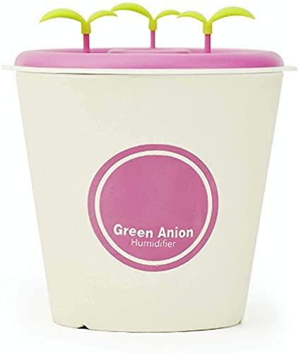 lndytq Humidificador en Maceta de aniones de cerámica DIY Escritorio Creativo Dormitorio Humidificador de Aroma pequeño Saludable y Puro Ajuste de pulverización de Dos etapas Rosa Verde Azul
