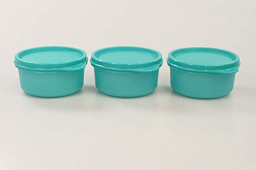 TUPPERWARE Julchen 31205 - Recipiente para nevera (200 ml, 3 unidades), color turquesa