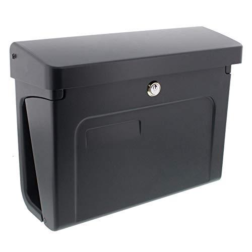 Burg-Wächter Briefkasten mit Zeitungsbox und Namensschild, A4 Einwurf-Format, EU Norm EN 13724, Inkl. 2 Schlüssel, Hochwertiger Kunststoff, Fehmarn 3888 ANT, Anthrazit