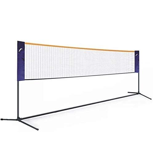 ZHIRCEKE 4M Tragbares Badminton-Netz, Tennis-Volleyball-Netz, Höhenbreite Adujstable, Kindervolleyball Für Garten-Schulhof Backyard-Strand, Beweglich Im Freien-Falten,2M