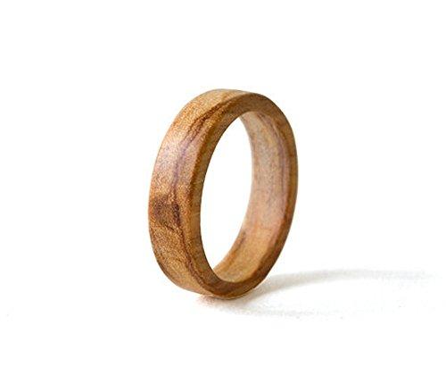 sandblasted ring wood wedding ring olive ring titanium wedding band mens wedding ring  anniversary ring man woman size 3 to 16