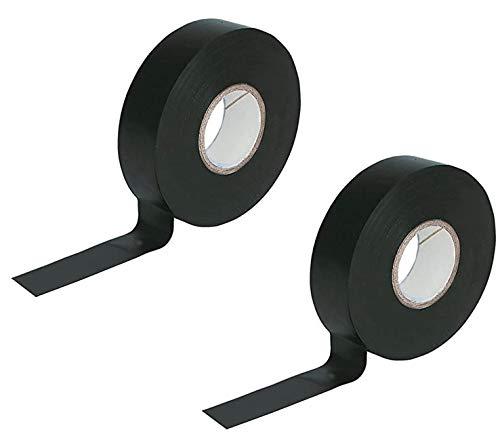 BOBOZHONG Elektrisches Isolierband 2 Stück Schwarzes PVC Isolierband 17 mm x 20 m