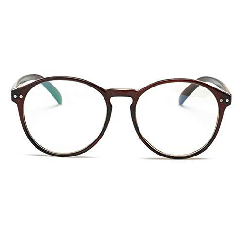 BABAYU Herren und Damen Rahmen klare Gläser Auge Brillen Frame mit Gewöhnliche Brillengläser