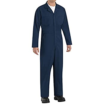 Red Kap Men s Twill Action Back Coverall Navy 40