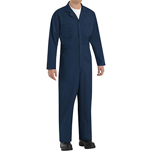 Red Kap Men's Tall Size Twill Action Back Coverall, Navy, 48 Long