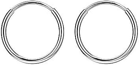 Small Hoop Earrings for Women 16G Cartilage Earring Hoop Rook Helix Daith Piercing Jewelry Earlobe Earrings for Men Small Huggie Earrings Mini 10mm Piercing Earrings Silver Nose Rings Septum Clicker