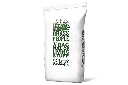 The Grass People Superstar: Back Lawn 2kg Grass Seed Lawn Seed Perfect for Families, Luxury Lawn, High Quality Lawn, Hard Wearing and Attractive Grass Lawn