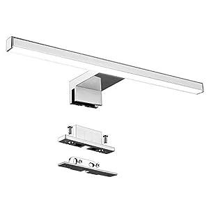 Aogled Lámpara de Espejo Baño 30 cm 5W 400LM 230V Neutro Blanco 4000K Acero Inoxidable IP44 Clase II Lámpara de Espejo…