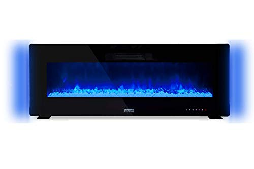 """W?rme Firebox Designer Electric Fireplace - 60"""" - Remote Control - 1Kw & 2Kw - Wall Mountable - Multi Colour Flames - Multi Colour Side LED Lights - Patented Haze Flame Technology"""