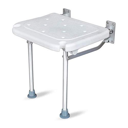 BAIHAO Taburetes de Ducha de baño Asiento de Ducha Plegable Antideslizante Banco de baño montado en la Pared Taburete de bañera para Ancianos/discapacitados ✅