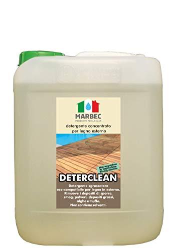Marbec - DETER CLEAN 5LT | Detergente sgrassante per pavimenti, finestre e arredi in legno collocati all'esterno