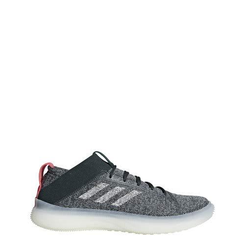 adidas Pureboost Trainer Shoes Men's (11.5 M US, Legend Ivy/Ash Silver/Shock Red)