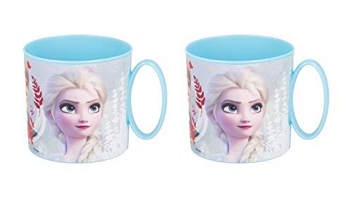 OTRA 3120; Pack de 2 Tazas Minnie Disney Frozen II Blue Forest; capacida 265 ml; Producto Reutilizable; Apto para microondas; Libre de BPA