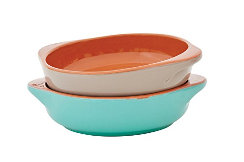 Jamie Oliver - Anti-Pasti schalen - Terracotta - Rustic Red & Apple Green - Set van 2 - Ø11xH5cm