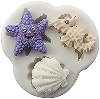 S.Han Silicone Starfish Sea Shell n Horse Fondant Mould Gumpaste Mold Cake Decorating Tool Baking bakeware