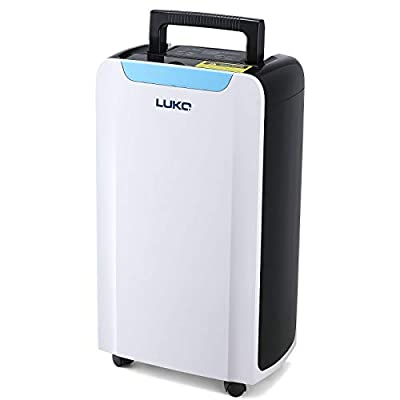LUKO 30 Pint 1600 SQ FT Home Dehumidifiers with Continuous Drain Hose, Intelligent Humidity Control Dehumidifier for Small Basements, Bathroom, Bedroom, Study, Kitchen, Garage from LUKO