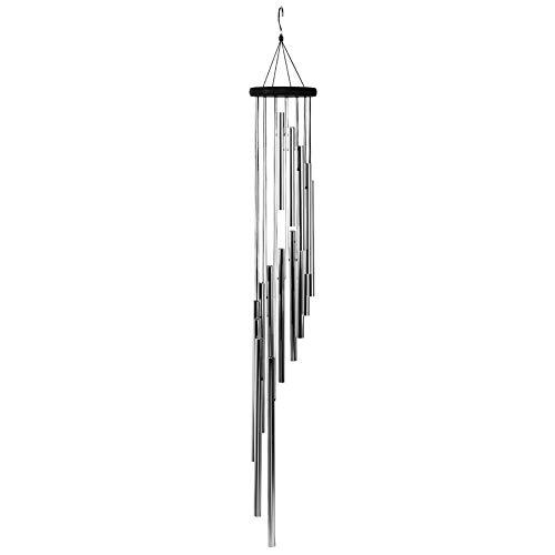 Windgong, Spiraal Windgong Tuin Buiten Eolische Klokken met 15 buizen Home Hanging Decoration Pendant