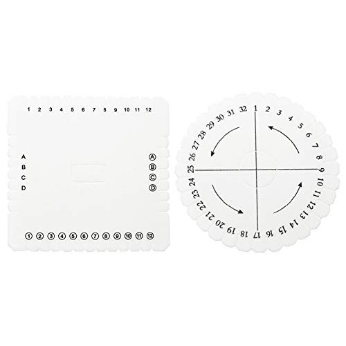 Kumihimo redondo disco, 2pcs Kumihimo Disk Macrame trenzado cuerda cadena pulsera hecha a mano que teje el disco(S)