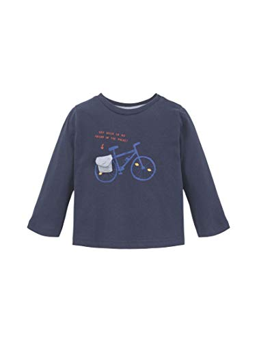 TOM TAILOR Kids T-Shirt Placed Print, Bleu (Navy Blazer|Blue 3105), 74 Bébé garçon