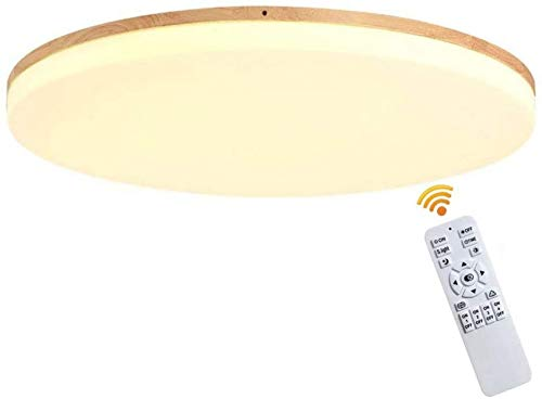 Lámparas de techo LED Troncos nórdicos Luces LED Madera Luces de habitación ultrafinas de estilo moderno Lámparas de techo redondas de madera maciza Sala de estar Estudio Dormitorio Pasillo