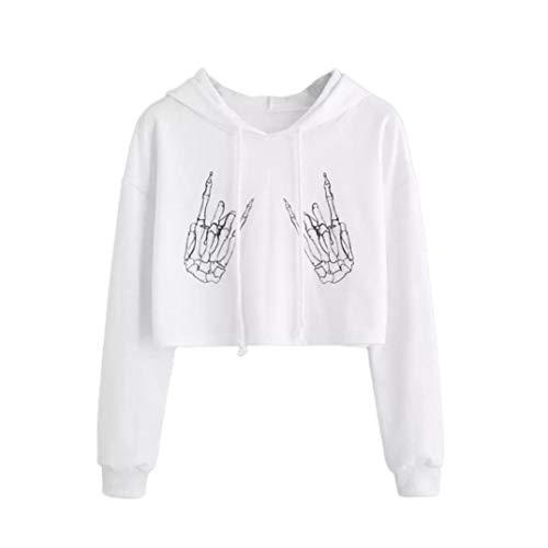 DAYLIN Mujer Otoño Casual Manga Larga Moda Impresión Camiseta Sudaderas con...