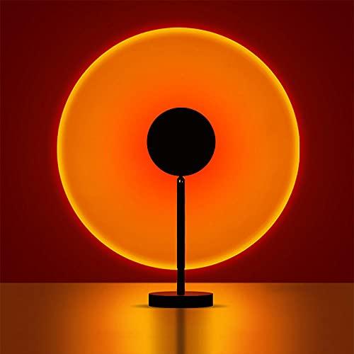 Sunset Lamp,Sonnenuntergangslampe,180°Drehung Sunset Projection Lamp Usb Led Projektor Lampe Licht Modernes Projektorlampen-Stimmungslicht FüR Hauptparty-Wohnzimmer-Schlafzimmer-Sonnenuntergang rot