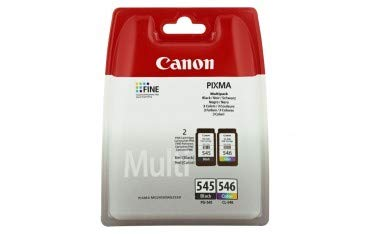 CANON PG-545 / CL-546 Tinte schwarz und farbig Standardkapazität Schw: 180 SS farbe: 180SS 2-pack blister ohne Alarm