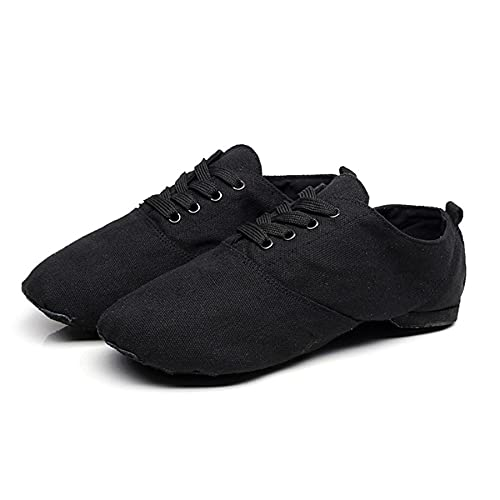 Desk Zapato de Jazz, Zapatos de Baile Latino, Zapato de claqué con Corbata, Zapatos de Baile para Mujeres y Hombres, Zapatos de Baile sin Cordones para Mujeres, Zapatos de Baile Negros (26-45)