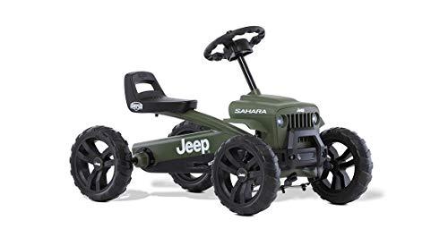 BERG Karting Buzzy JEEP Sahara | Kart à Pédales, Go-Kart, Siège Réglable, Pneus EVA, Kart à pédales pour Enfant, Vélo et véhicule pour Enfants 2-5 Ans