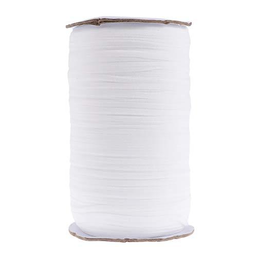 Artibetter Gummiband Praktisches Flaches Elastisches Seil Elastisches Nähband Bekleidungszubehör zum Nähen Maske Tagesdecke Manschette 1 Rolle Weiß (275 M)