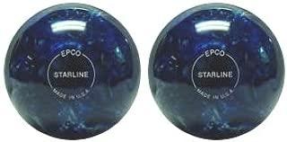 EPCO Duckpin Bowling Ball- Starline - Blue & Pearl - 2 Balls