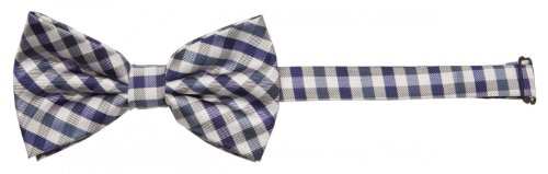Fabio Farini - Elégant nœud papillon à carreaux pour hommes pour toutes les occasions comme le mariage, la confirmation, le bal Bleu marine blanc