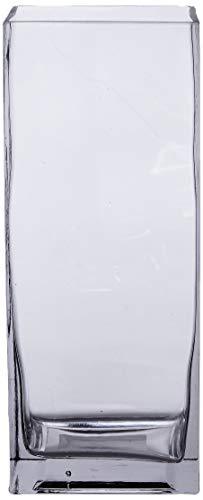 Better & Best Florero de Cristal, Cuadrado, Recto, 11 x 11 x 27 cm, 11.00x11.00x27.00 cm