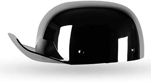 XLYYHZ Medio Casco de Motocicleta con Visera de protección Solar Hebilla de liberación rápida para Hombres, Mujeres, Gorra de béisbol Retro, Casco de Modelado, Aprobado por el Dot, para Moto