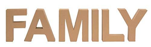 GLOREX 6 2029 153 Pappbuchstaben-Set FAMILY, mehrfarbig