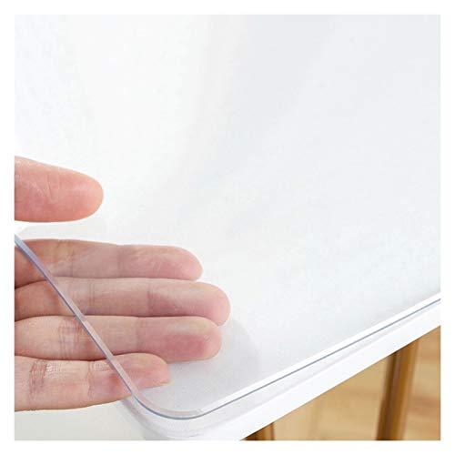 AWSAD Transparente Impermeable Manteles, 1,5 Mm / 2 Mm Mantel Impermeable Sin Olor Resistente A Las Grietas Resistente Al Calor Cubiertas De Mesa (Color : 1.5mm, Size : 60cmX90cm)
