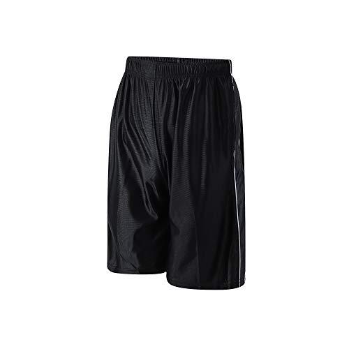 PTSports Men's Basketball Gym Shorts Running Workout Shorts with Pockets Drawstring Black-XXL