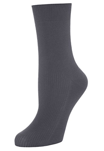Wolford - Calcetines acanalados para mujer, color gris
