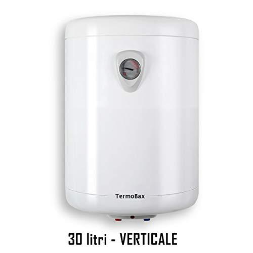 SCALDABAGNO elettrico scalda acqua boiler scaldino lt 10 30 50 80 100 litri VERTICALE-ORIZZONTALE. Termobax (30 litri VERTICALE)