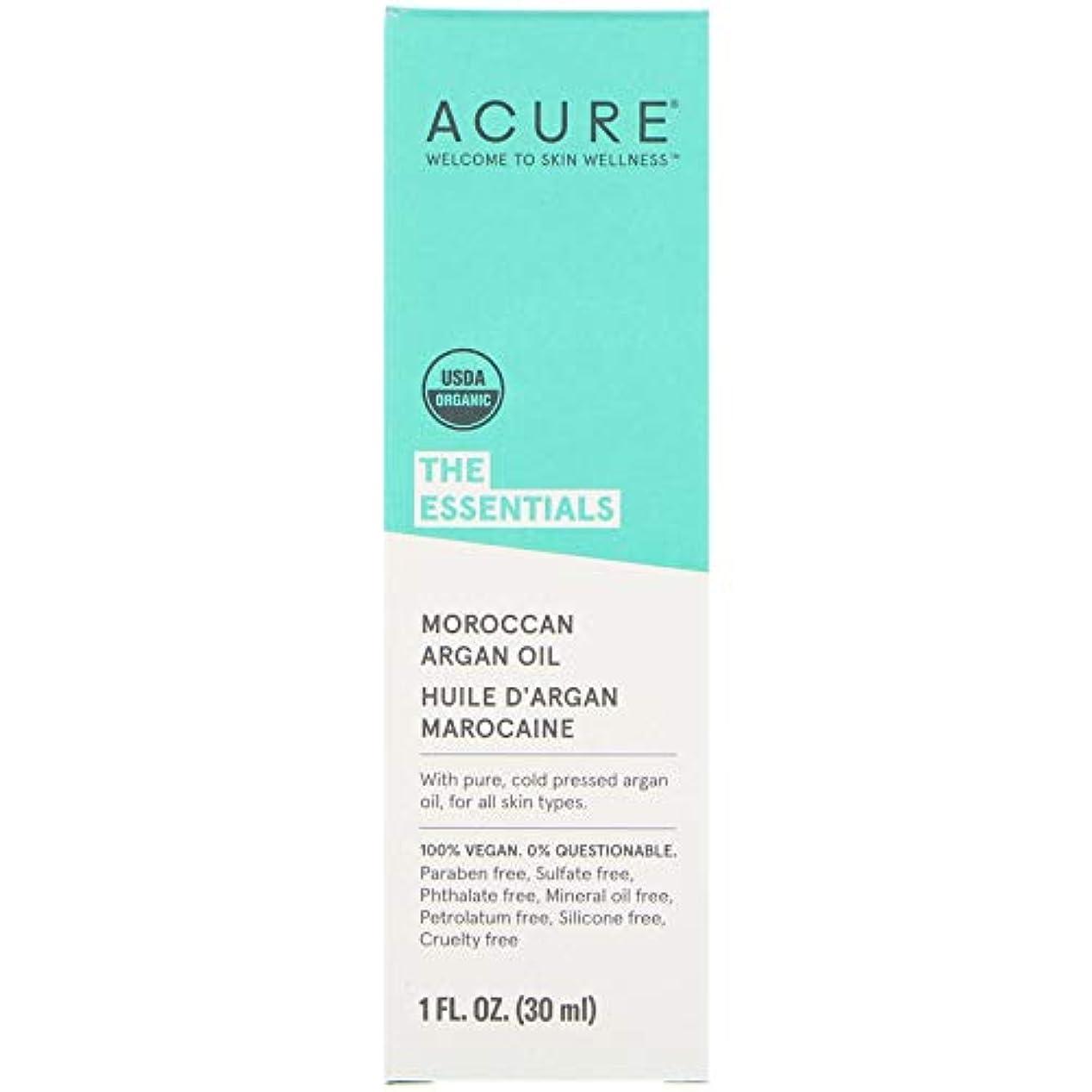非常にテクトニックローマ人Acure Organics オーガニック モロッコ産 アルガンオイル 30ml x 3本セット [並行輸入品]