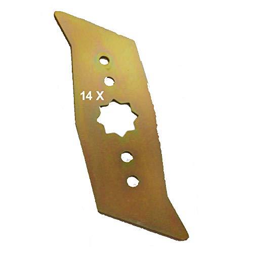 14 Vertikutierer Messer für WOLF - Garten Elektro - Vertikutierer UV 32 EL