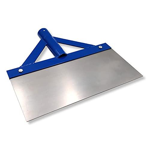 DEWEPRO Stoßscharre - Schaber - Farbschaber - extra stabil mit Streben und Federstahlblatt - Breite: 300mm - ohne Stiel