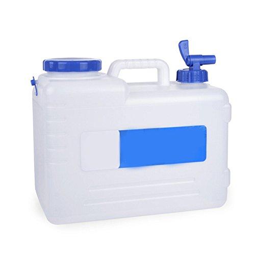 Jerrican Alimentaire Camping avec Un Robinet 15L Blanc, Bidon d'eau avec Bec Verseur en Plastique Epais pour Le Transport d'eau, Parfait pour Voyage Voiture Maison (1pc)