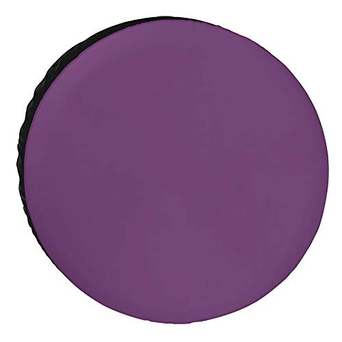 Crystal Emotion Spare Tire Covers 14inch, Cover for Jeep Trailers Cars Rvs SUV Camper, Purple Lavender Custom Polyester Wheel Tires Cover, Waterproof/Dust-Proof Automotive Accessories, Solid